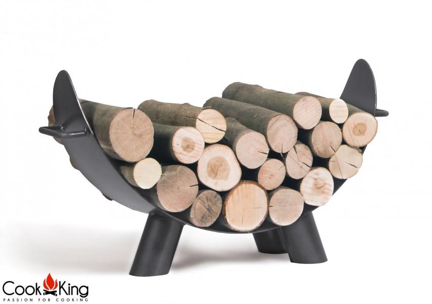 Holzablage Mila befüllt mit Holz