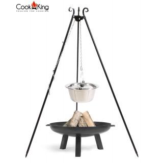 Dreibein mit Edelstahltopf + Feuerschale Polo