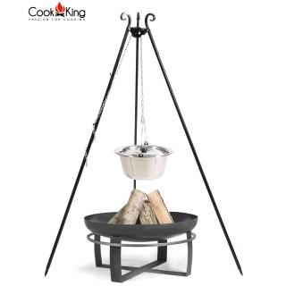 Dreibein mit Edelstahltopf + Feuerschale Viking