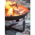 Feuer und Glut in der Feuerschale Viking